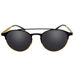 ADIDAS Black/Yellow Sunglasses Grey Lens